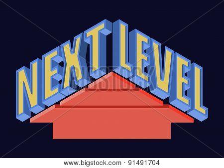 Next Level T-shirt Typography, Vector Illustration