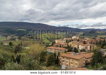 Landscape Around San Gimignano, Italy