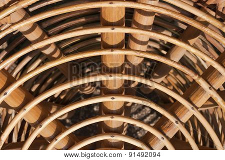 Abstract Curve Line Wood Texture And Background