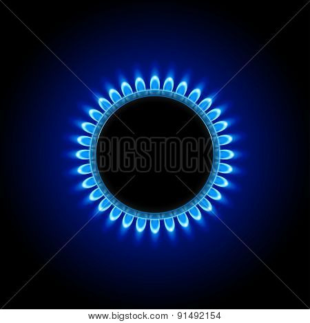 gas on dark