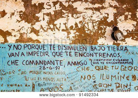 Graffiti Where Che Guevara Died