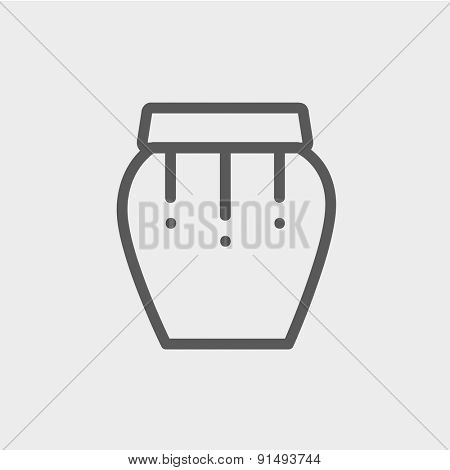 Percussion instrument icon thin line for web and mobile, modern minimalistic flat design. Vector dark grey icon on light grey background.