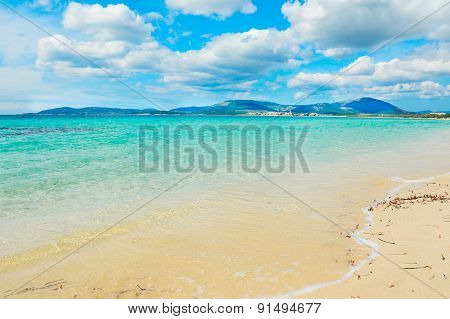 Maria Pia Beach On A Cloudy Spring Day