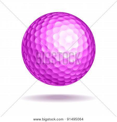 Golf Ball Pink Vector