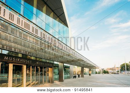 Building of music hall music centre in Helsinki, Finland