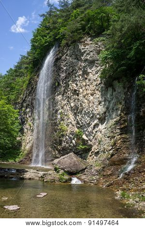 Byeongpoong waterfall in Gangcheon Mountain