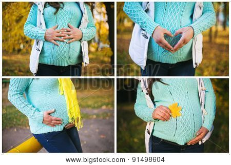 Pregnant woman collage