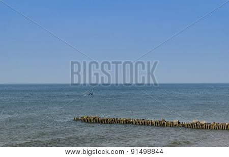 The Baltic Sea Coast. The Beach In Zelenogradsk