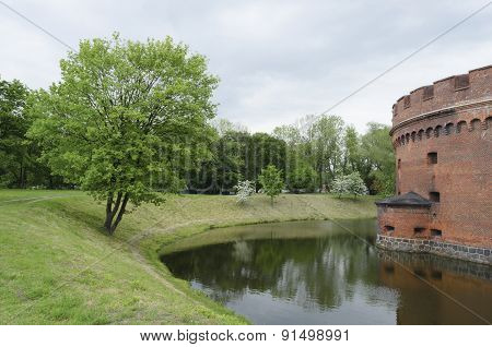 Defensive Tower Dohna In Kaliningrad (koenigsberg).