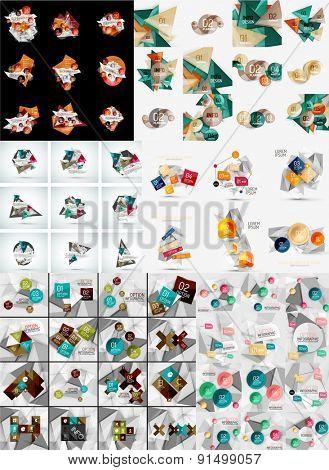 Set of infographic geometric layouts