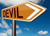 foto of satan  - devil evil satan burn in hell   - JPG