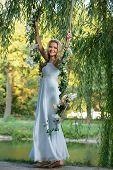 picture of swing  - Bride on a swing - JPG