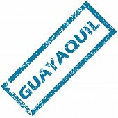 pic of guayaquil  - Vector blue rubber stamp with city name Guayaquil - JPG
