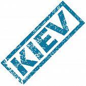 pic of kiev  - Vector blue rubber stamp with city name Kiev - JPG