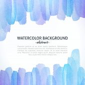 picture of  art  - Watercolor Blue and Purple Abstract Background - JPG