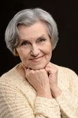 picture of beautiful senior woman  - Portrait of a beautiful senior woman close - JPG