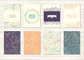 pic of pattern  - A set of flyers brochures templates design - JPG