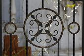 picture of wrought iron  - Iron Fence - JPG
