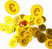 foto of prosperity  - Euro Coins Representing Prosperity Euros And Wealthy - JPG