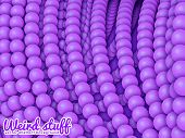 pic of chains  - Chain of spheres with soft shadows in form of helix on the background - JPG
