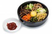 stock photo of korean  - Bibimbap dish of meat - JPG
