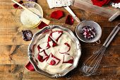 picture of white sugar  - Making candied rose flower petals with egg whites and sugar - JPG