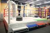 image of boxing ring  - The image of a boxing ring - JPG