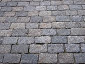 image of cobblestone  - image of one cobblestone background at dry day - JPG
