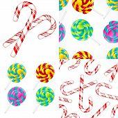 stock photo of lollipops  - Delicious lollipop vector set - JPG