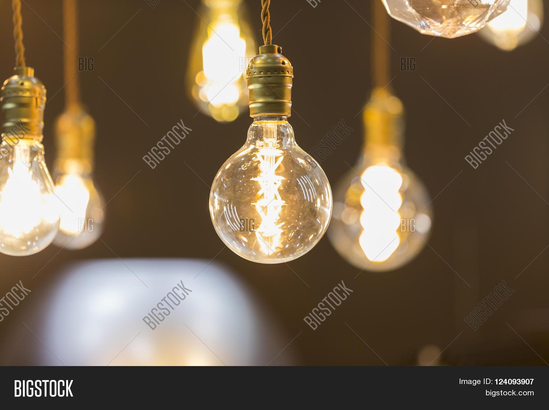 Imagen y foto led light bulb hang ceiling bigstock led light bulb hang from ceiling aloadofball Choice Image