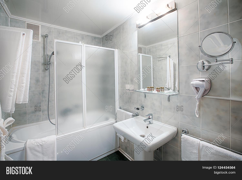 Interior Design Of A Hotel Bathroom Restroom Washbasins Sink