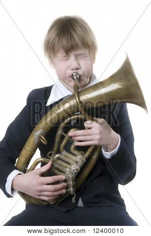 girl with the alto sax-horn