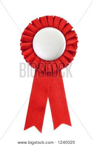 Red Award Ribbons Badge