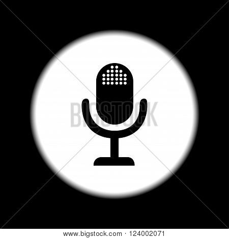 microphone web icon flat design vector EPS