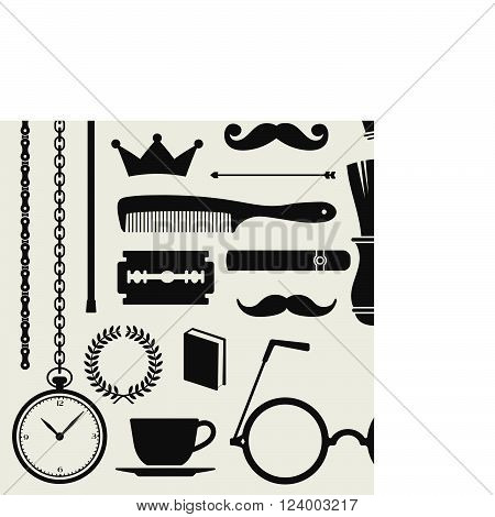 Hipster style icon design set - vector