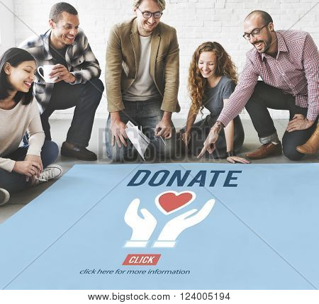 Donate Charity Give Help Offering Volunteer Concept