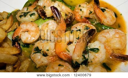 Tiger shrimps  in a sweet and sour sauce