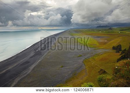 South of Iceland, black beach