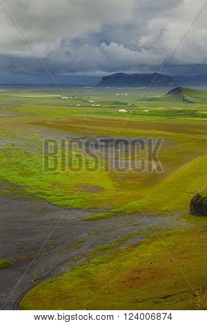 Scenic view at south part of Iceland