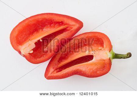cut red bellpepper