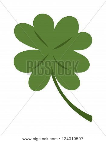 Clover illustration icon. Clover isolated on background. Clover cartoon style. Clover. Clover modern style. Cute Clover isolated