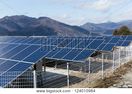 Solar energy panel power plant