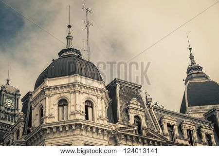 The dome of a building in buenos aires Argentina