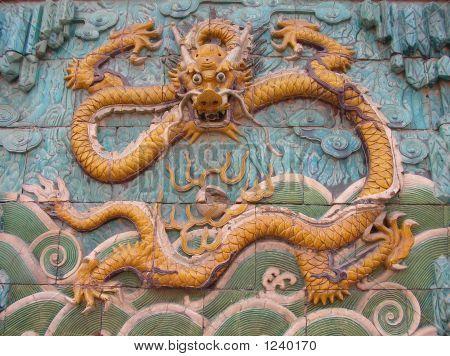 Símbolo de dragón chino en Beijing
