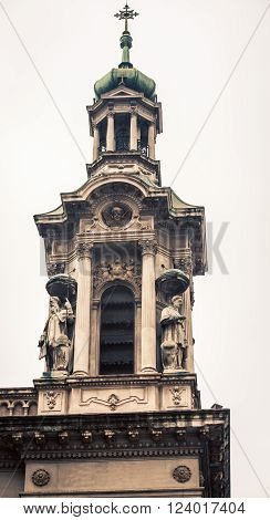 Spiral of San Francisco Cathedral in Buenos Aires