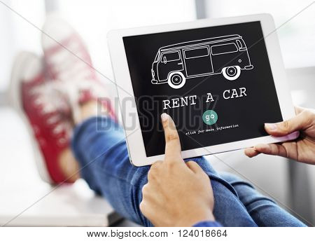 Rent Car Borrow Available Renting Rental Concept