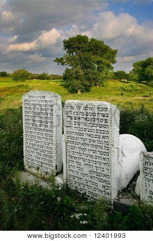 old  jewish cemetery in Ukraine