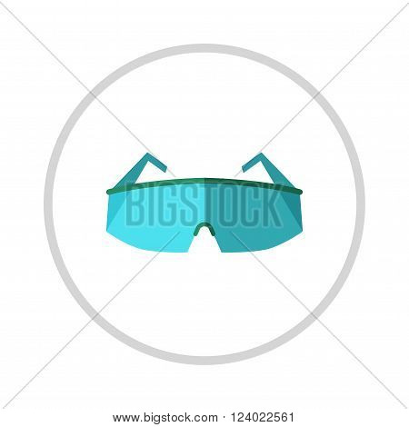 Glasses, eye protection illustration isolated on white background. Glasses . Retro, aviator frames Eyeglasses tools isolated. Glasses optical lens. Eye protection .