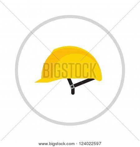 Yellow helmet isolated on white background . Helmet , head protection. Yellow safety helmet on white background. Head protection hard hat isolated on white. Head protection