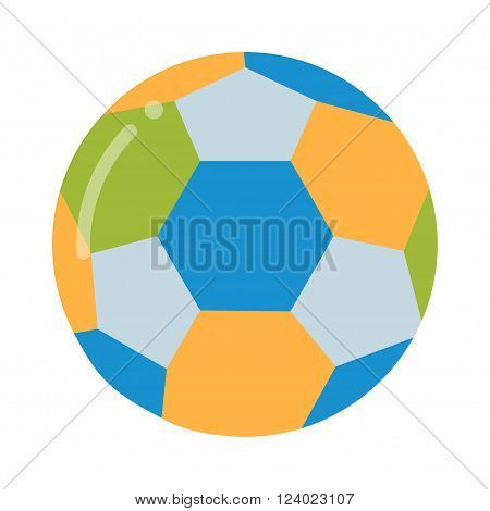 Soccer ball isolated on white illustration. Soccer ball football sport equipment. Soccer ball design. Soccer ball . Soccer ball colored design. Soccer leather ball.